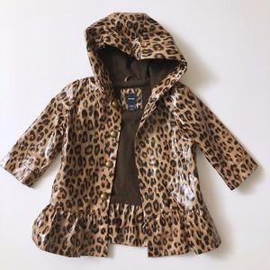 Girls Baby Gap Hooded Leopard Raincoat 18-24